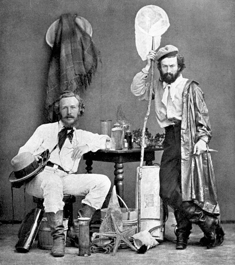 Ernst Haeckel and his assistant Nicholas Miklouho-Maclay
