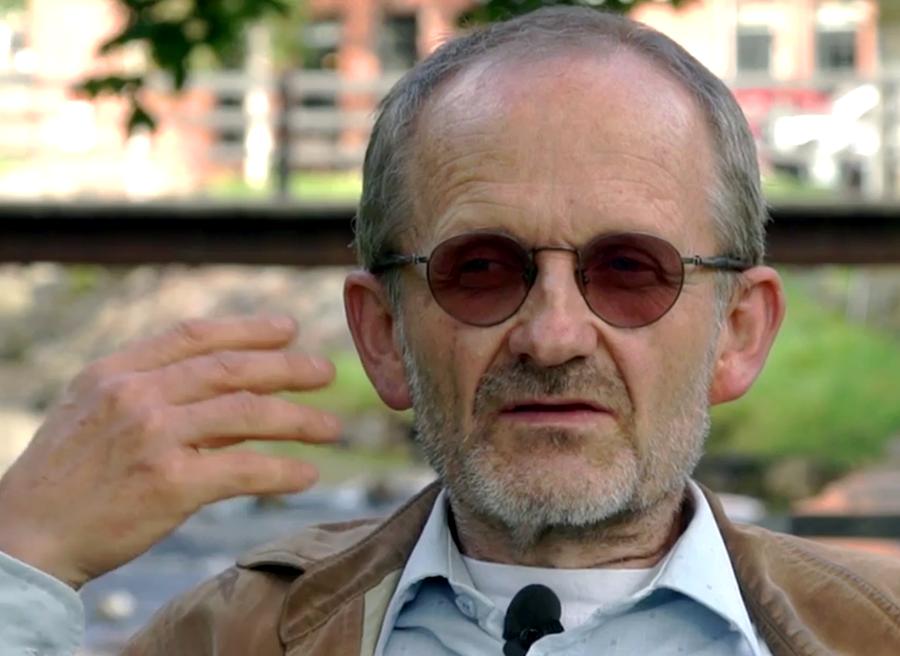 Geir Flatabo berättar om hur psyket på möss förändras av Toxoplasma - Foto: Arnt-Olav Enger