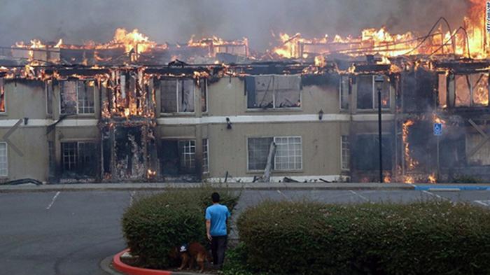 Kalifornia, bränderna 2017 - Foto: CNN