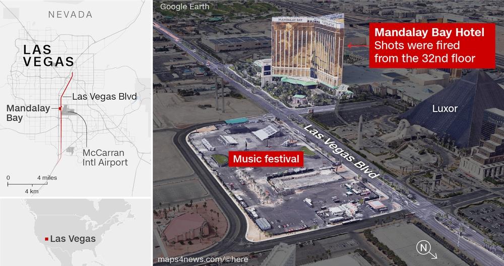 Las Vegas-massakern 2 oktober 2017 - Grafik: CNN