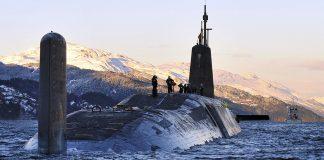 US Nuclear Submarine HMS Vanguard Returns to HMNB Clyde, Scotland - Photo: Tam McDonald, Wikimedia Commons