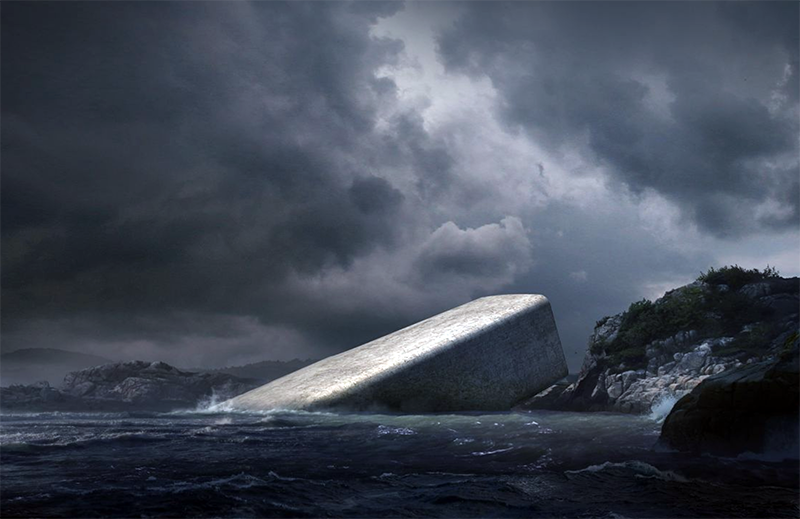 Undervattensrestaurang - Bild från arkitektfirman Snøhetta
