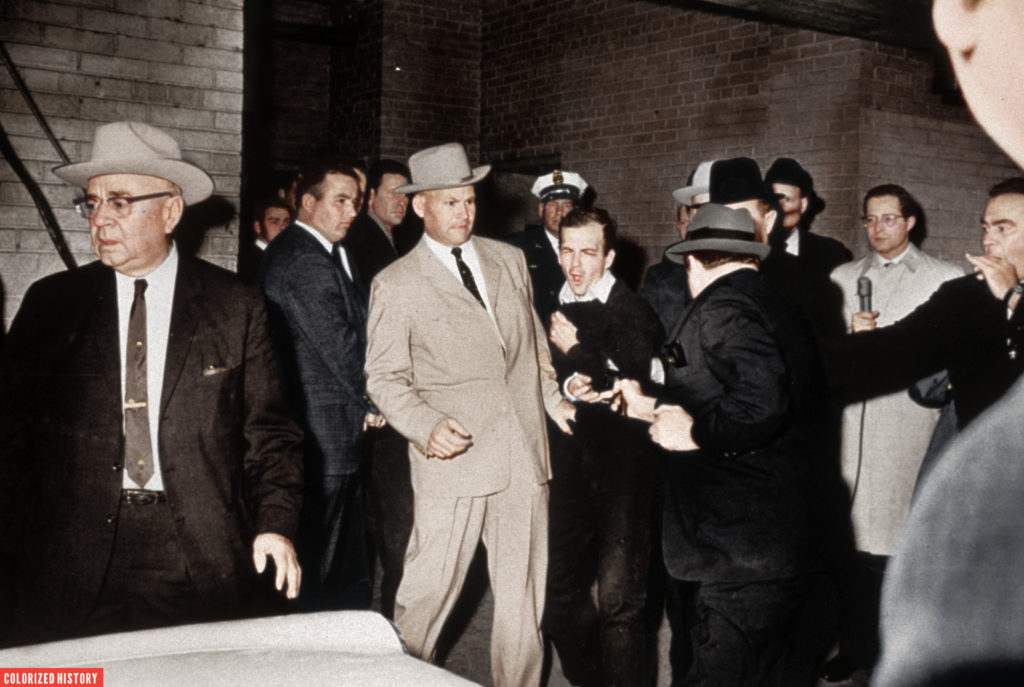 Lee Harvey Oswald skjuts av Jack Ruby