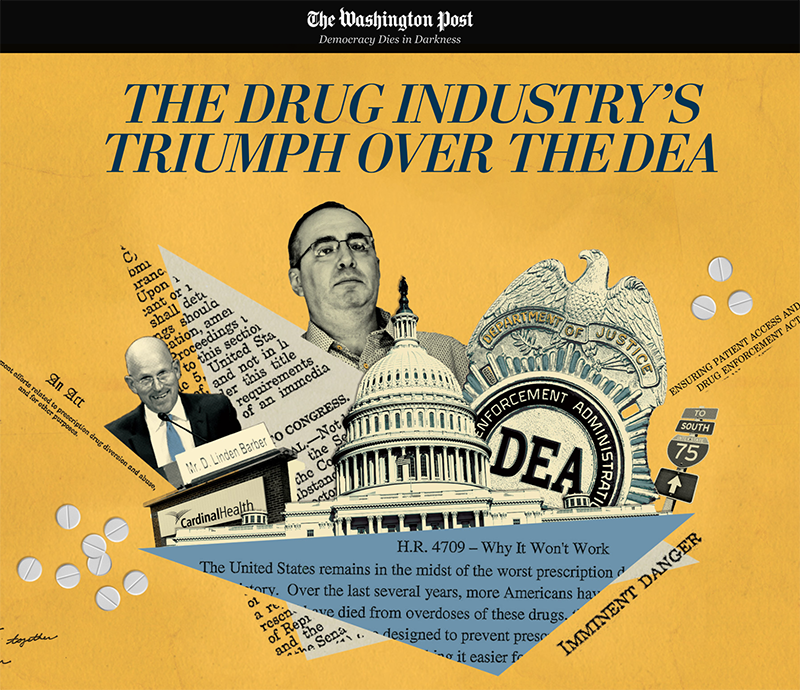 """""""THE DRUG INDUSTRY'S TRIUMPH OVER THE DEA"""" - The Washington Post"""