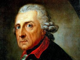 FredrikII (Fredrik den Store) - Målning: Anton Graff, 1781