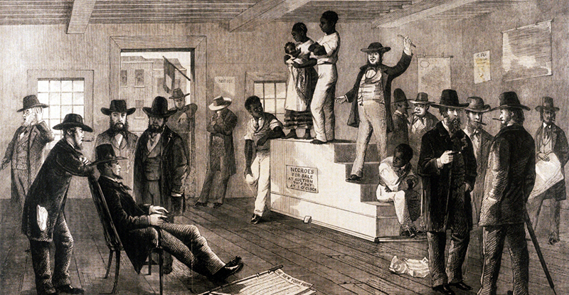 Slave auction in Virginia 1861