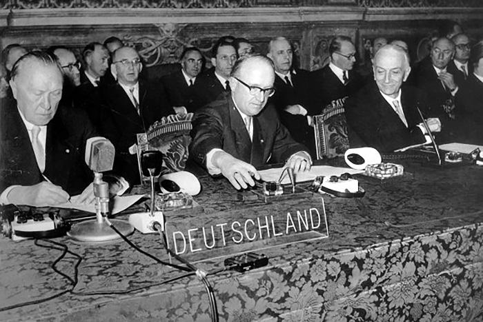 EWG: Vertragsunterzeichnung über Europäische Markt und Atomgemeinschaft