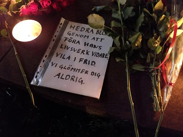 Minnesstund för Bechir Rabani 17 dec 2017 - Foto: Vaken.se