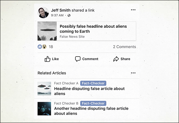 Facebooks fake news-neuros