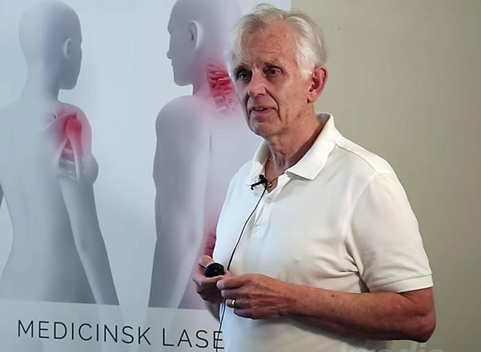 Jan Tunér om lasermedicin - Foto: Irradia