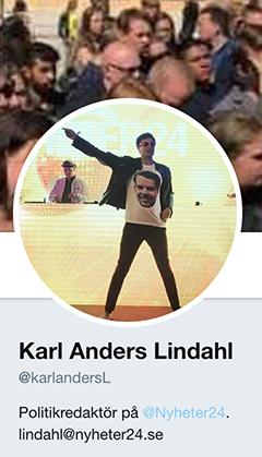 Karl Anders Lindahl politikredaktör