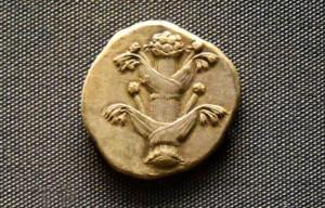 Silphium avbildat på ett mynt från 435-375 fKr – Foto: Osama Shukir Muhammed Amin, Ancient.eu, Creative Commons
