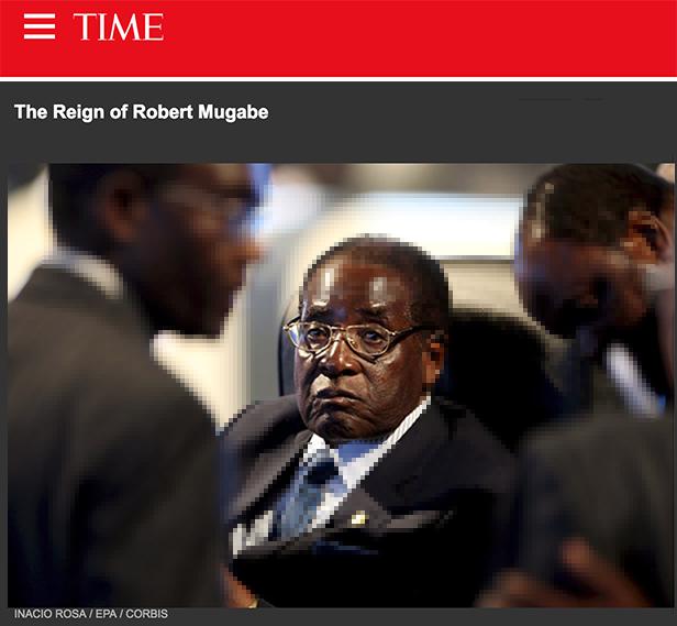 Robert Mugabe in 2008