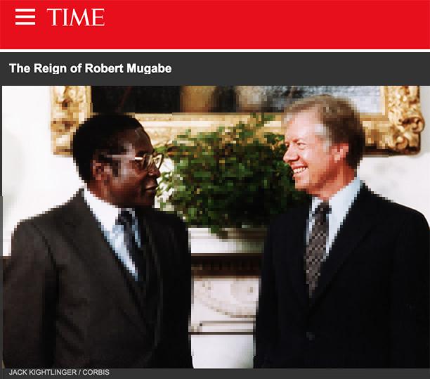Mugabe visited President Jimmy Carter