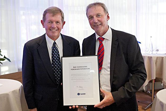 Åke Svensson fd VD Saab tom 2011 och Marcus Wallenberg - Foto: Saabs presscenter