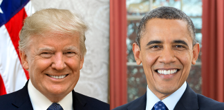 Donald Trump och Barack Obama bekämpar/bekämpade båda trafficking