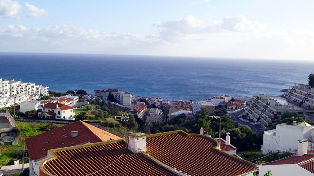 Utsikt från Jan Norbergs terass i Portugal den 7 januari 2018