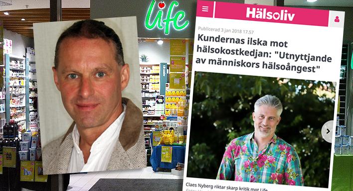 En butik i Life-kedjan, Michael Zazzio, Expressen Hälsoliv - Kollage: NewsVoice