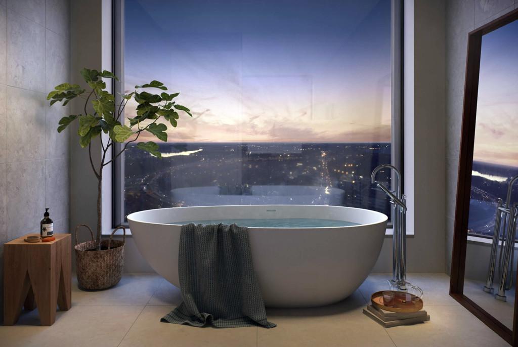 Ett badrum i Tors Torn - Bild: Oscarproperties.com