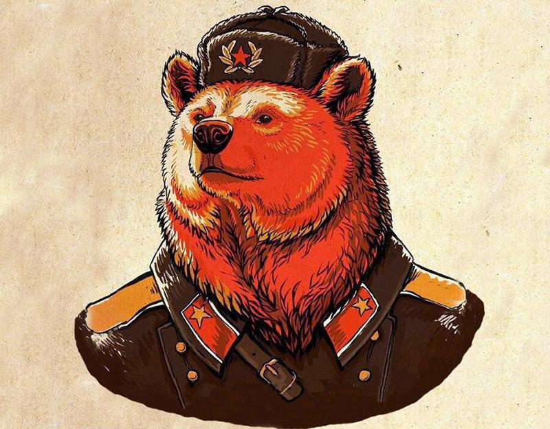 Den ryska Björnen - Källa: Memegenerator.net