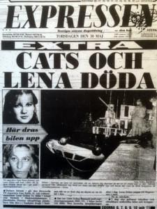 Cats Falck och Lena Gräns - Expressen, 30 maj 1985