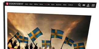 Sverigebilden - Skärmdump från Indpendent