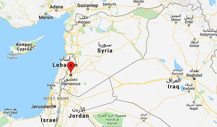 Syrien - Google Maps