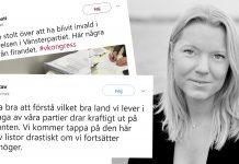 Carina Bergfeldt tweets -Foto: Andreas Bardell/montage