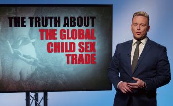 Ben Swann rapporterar om barnsexhandeln 27 mars 2018 Foto: TruthinMedia.com