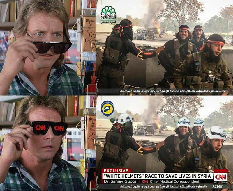 CNN and white helmets