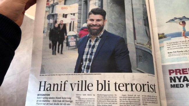 "Corren: ""Hanif ville bli terrorist"", privat foto"