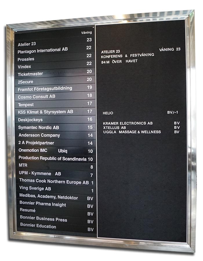 DN-skrapan - tavla med alla våningsplan - Foto: NewsVoice.se
