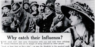 Formamint pill for Spanish flu