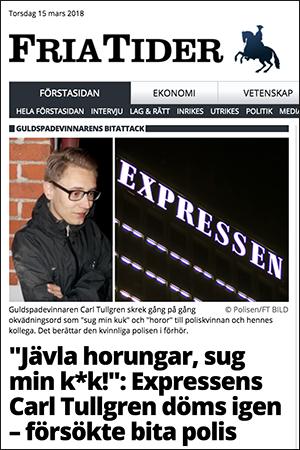 Carl Tullgren - Skärmdump från Fria Tider