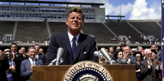 John F Kennedy Dec 12, 1962 - Photo: Robert Knudsen