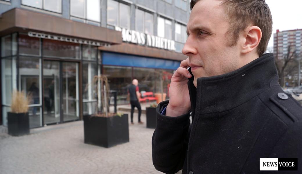Markus Andersson utanför DN - Foto: Torbjörn Sassersson, NewsVoice