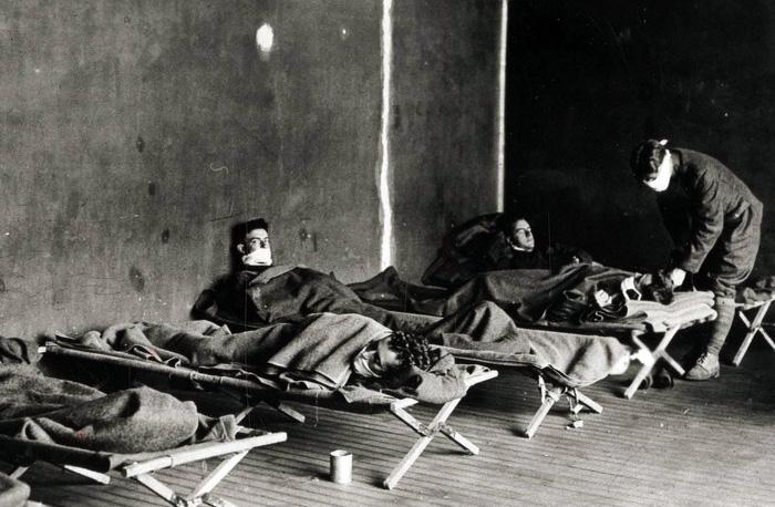 Amerikanskt militärt fältsjukhus nr 29, 1918, under spanska sjukan