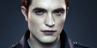 Twilight II från 2012 med en vampyr spelad av skådespelaren Robert Pattinson - Källa: Wallpaperswide.com