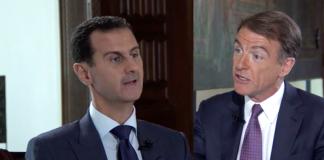 Bashar Al-Assad (Syrien) och Bill Neely (NBC) - Foto: NBCnews.com