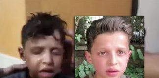 Hassan Diab i Douma efter en påstådd kemisk attack 7 april, 2018 - Foton i montaget: Vita hjälmarna och RT.com
