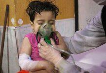 Barn drabbat av påstådd kemisk attack i Douma, Syrien - Fotograf okänd
