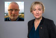 Johan Thyberg (selfie) och Helene Hellmark Knutsson (pressfoto Regeringen)