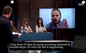 Jonatan Spang om Sverige - Skärmdump: SVT
