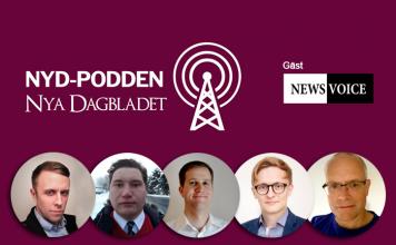 Nya Dagbladet gör NyD-Podden med gäst NewsVoice