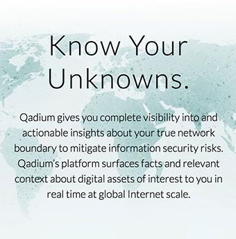 Qadium slogan - Skärmdump från Qadium.com