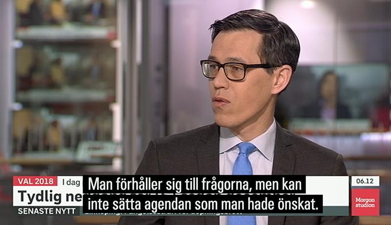 SVT Nyheter tar upp #Valet2018 23 april 2018