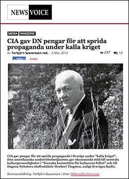 NewsVoice skriver om Svenska kommittén för kulturens frihet