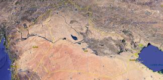 Syrien och Irak - Google Earth Pro