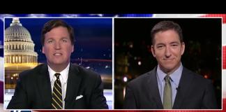 Tucker Carlson och Glenn Greenwald, 10 april 2018 - Foto: Fox News