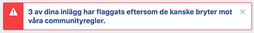 Facebook varning